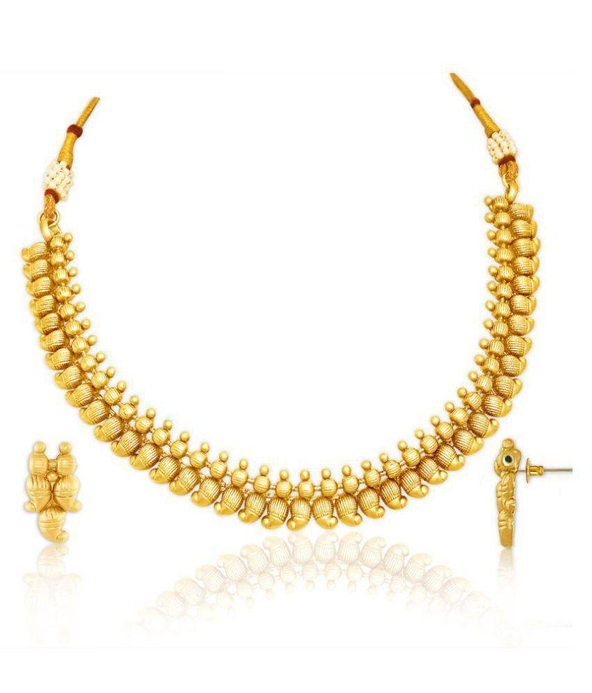 Spargz Golden Necklace Set
