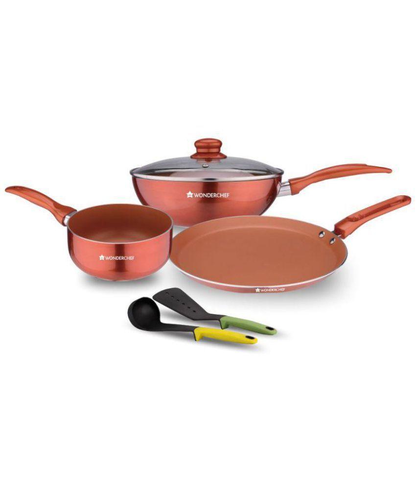 Wonderchef Non-Stick Wonderchef Diva Collection Cookware Set Cookware Sets