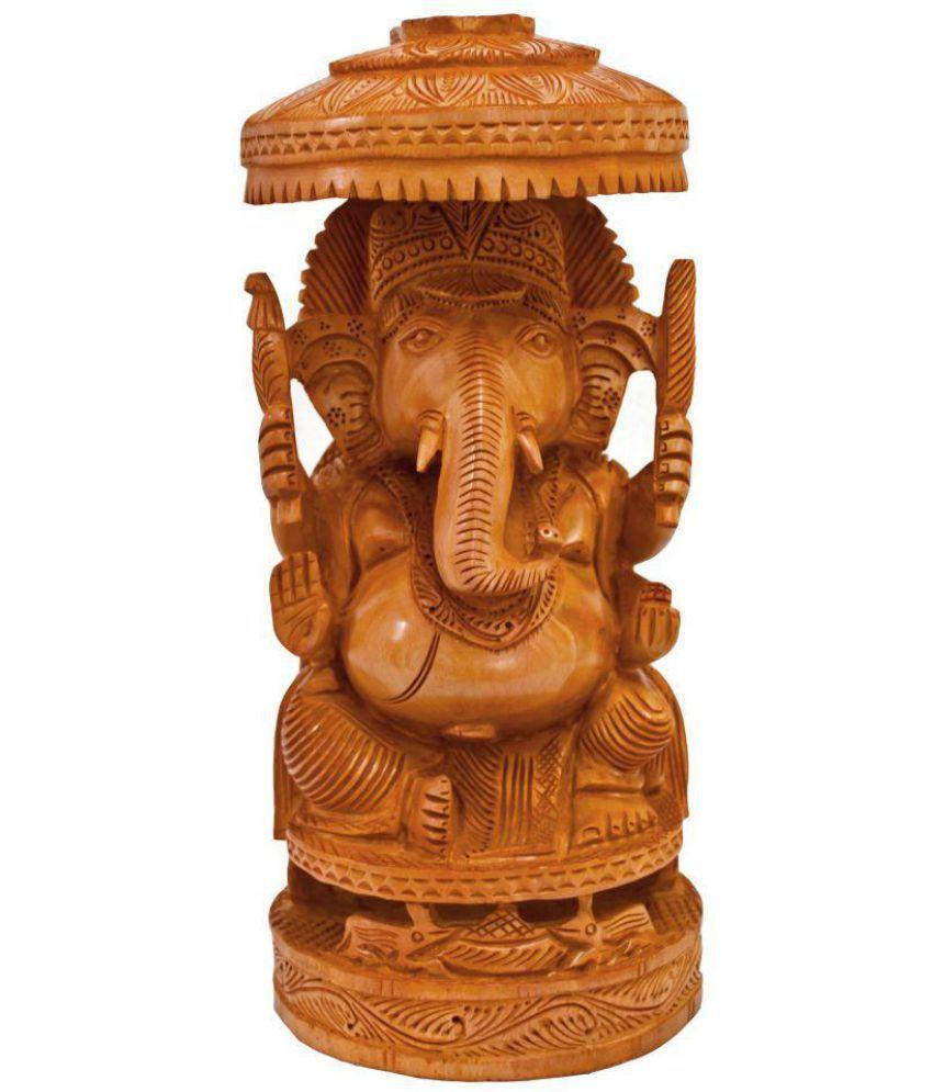 TimberTaste Ganesha Wood Idol