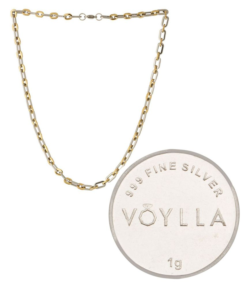 Voylla Gold Chain With Silver Coin