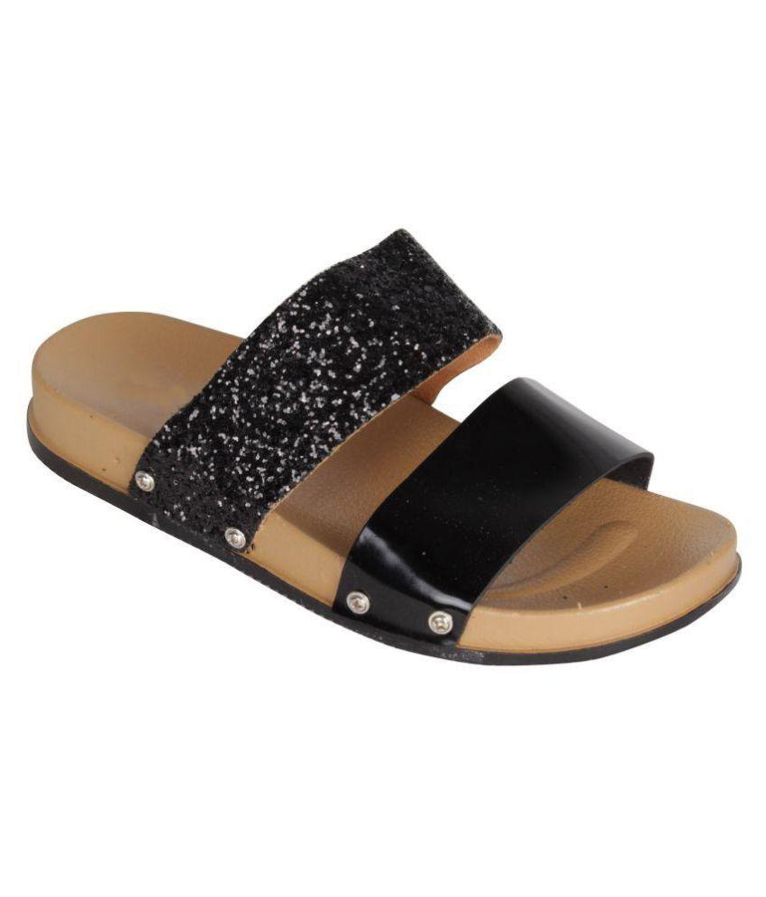 Greentree Black Slippers
