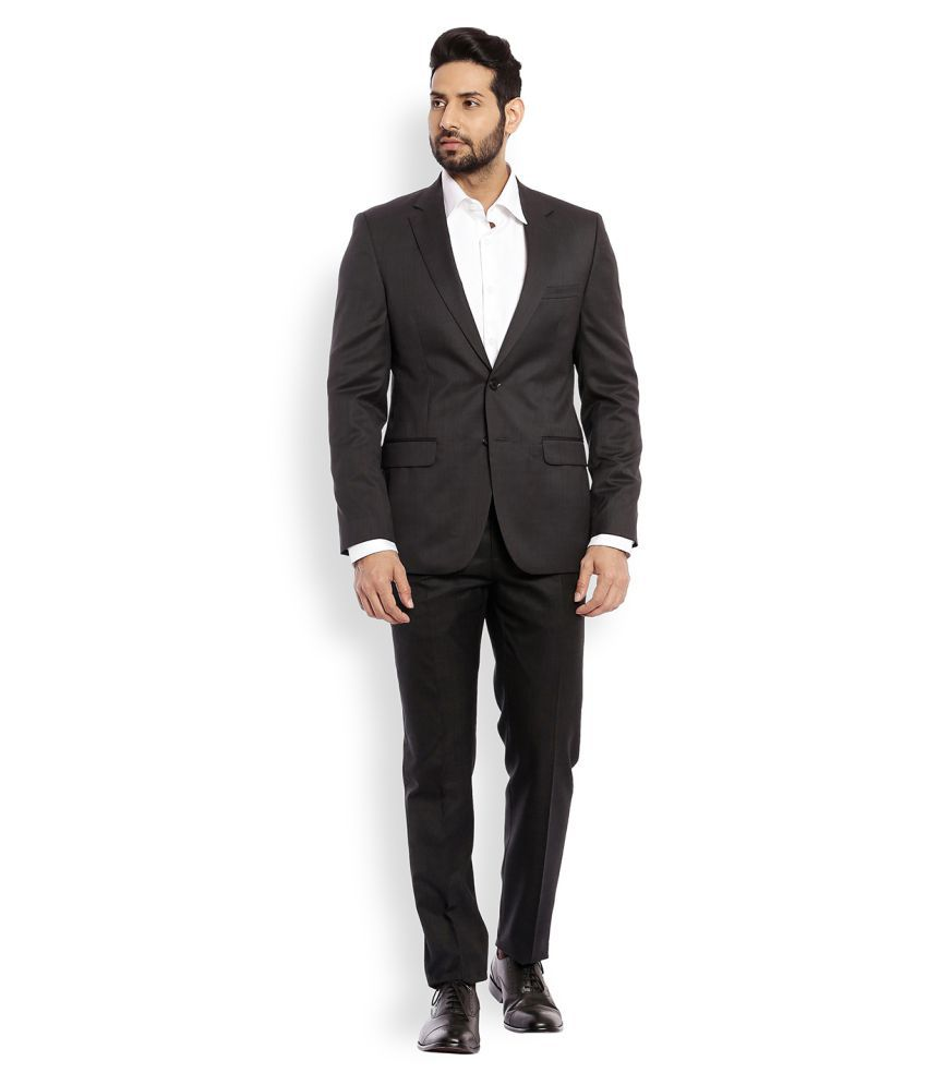 Raymond Black Solid Formal Suit
