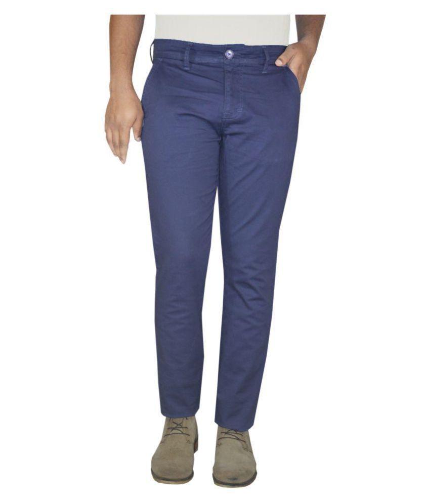 Pepe Jeans Blue Slim Flat Trouser
