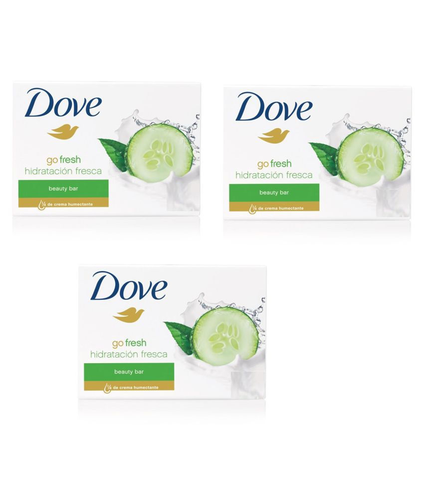 Dove Imported Go Fresh Hidratcion Fresca Beauty Bar Pack Of 3