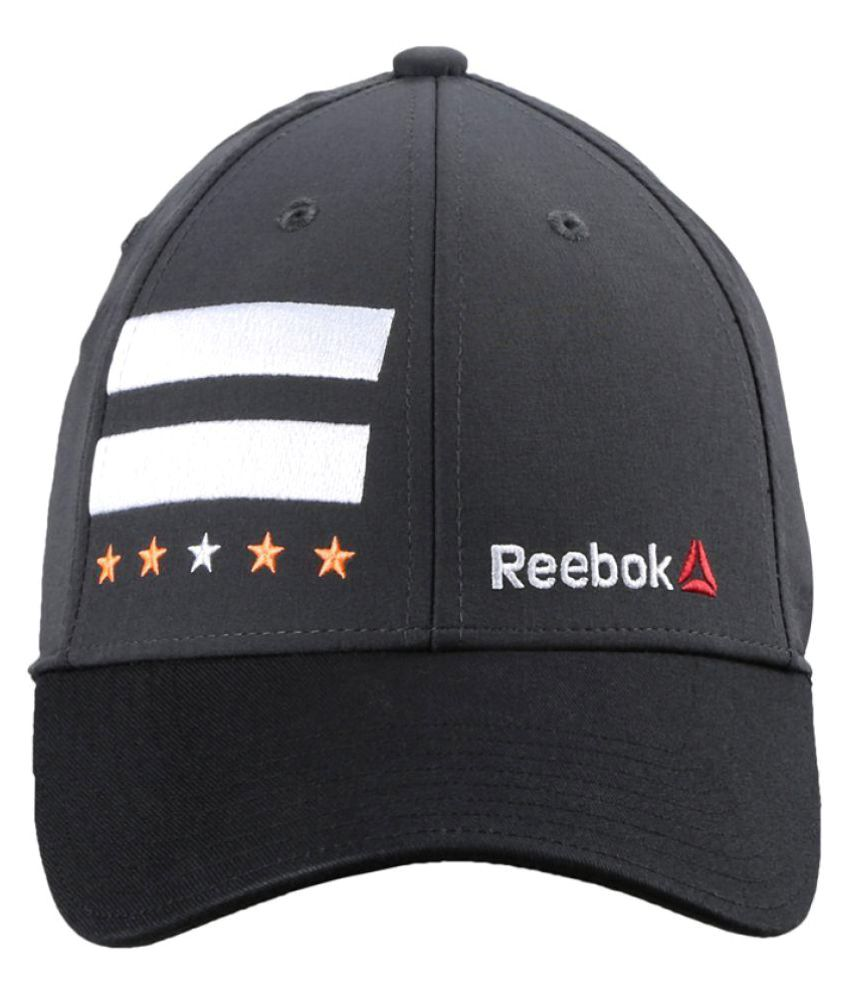 8ddcf0de Reebok Black Graphic Polyester Caps - Buy Online @ Rs. | Snapdeal