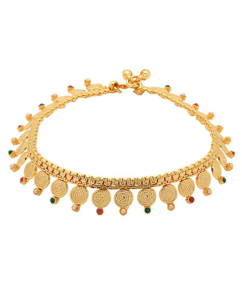 Gold Plated Designer Anklet