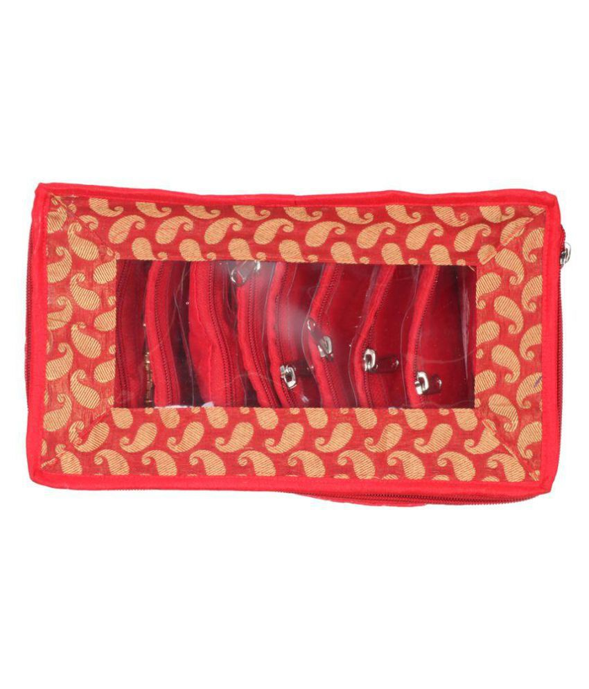 Glitter Collection Red Jewelry Cases - 1 Pc