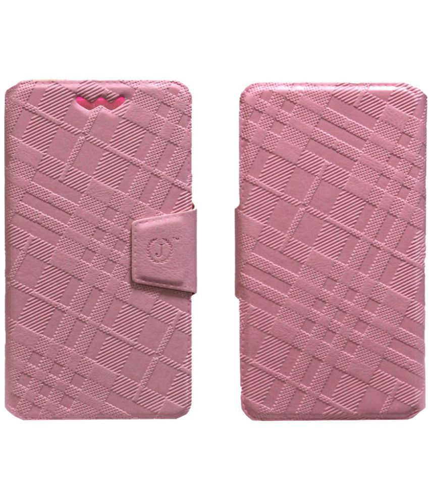 Intex Aqua HD Flip Cover by Jojo - Pink