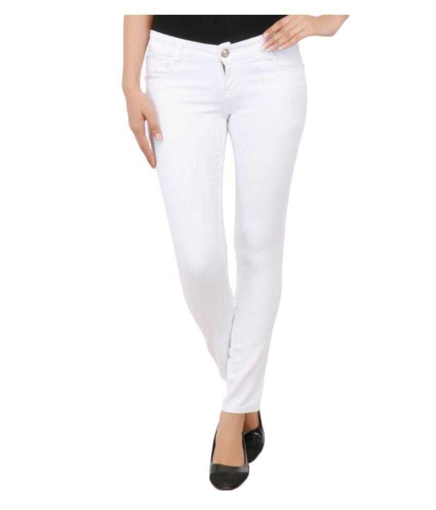 V S Jeans White Denim Lycra Jeans