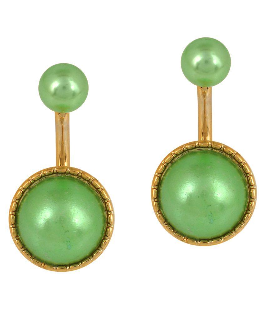 Memoir Green Drop Earrings