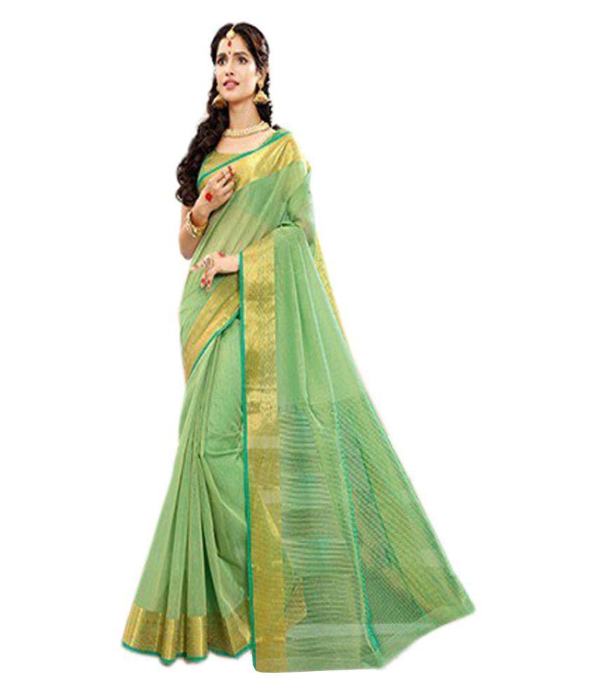 Abhinna Green Khadi Saree