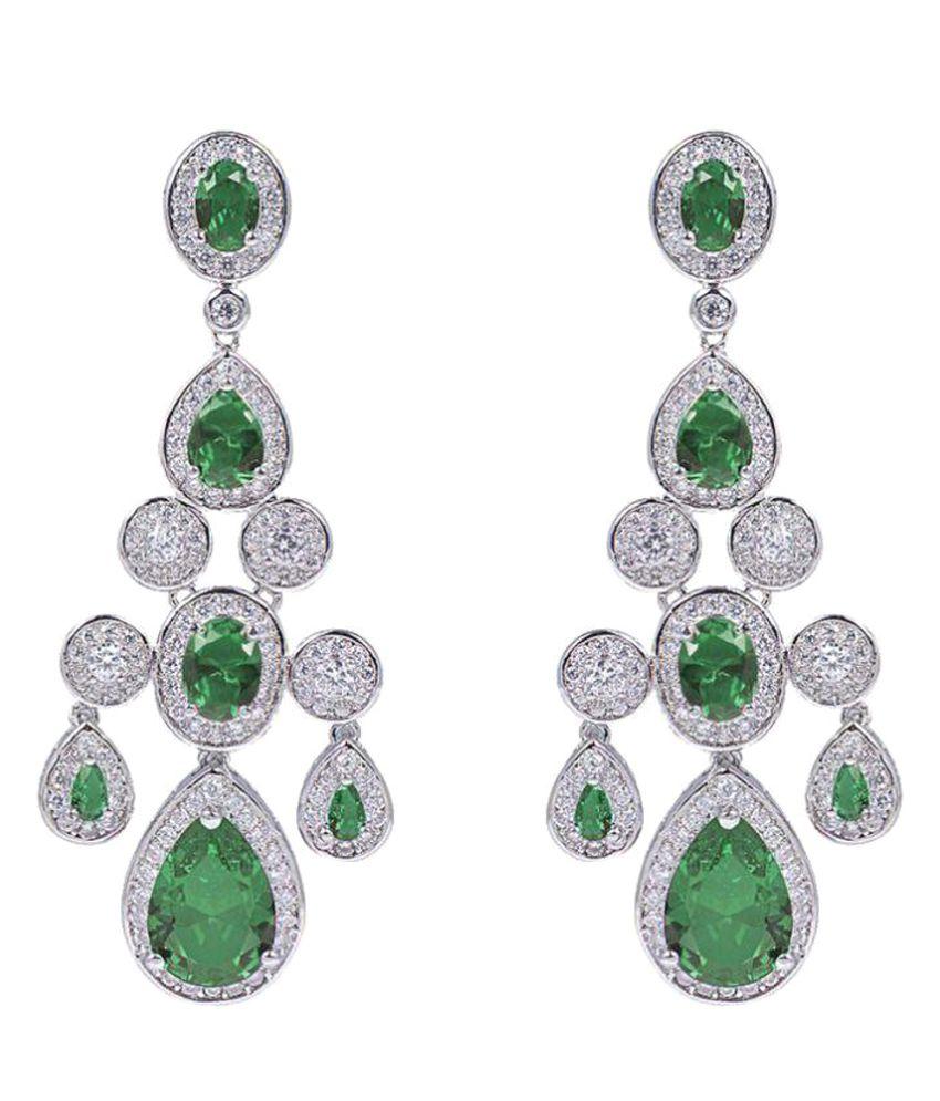 Shaze Green Earrings