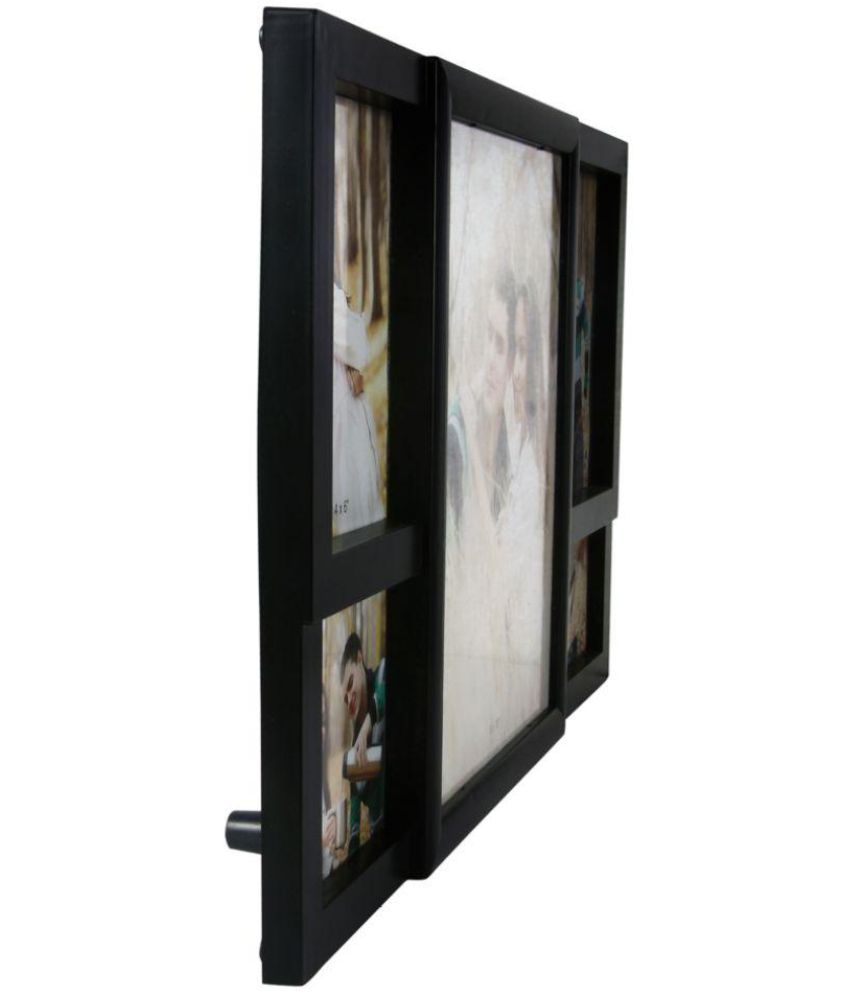 Archies Collage Frames Plastic Table Top & Wall hanging Black ...