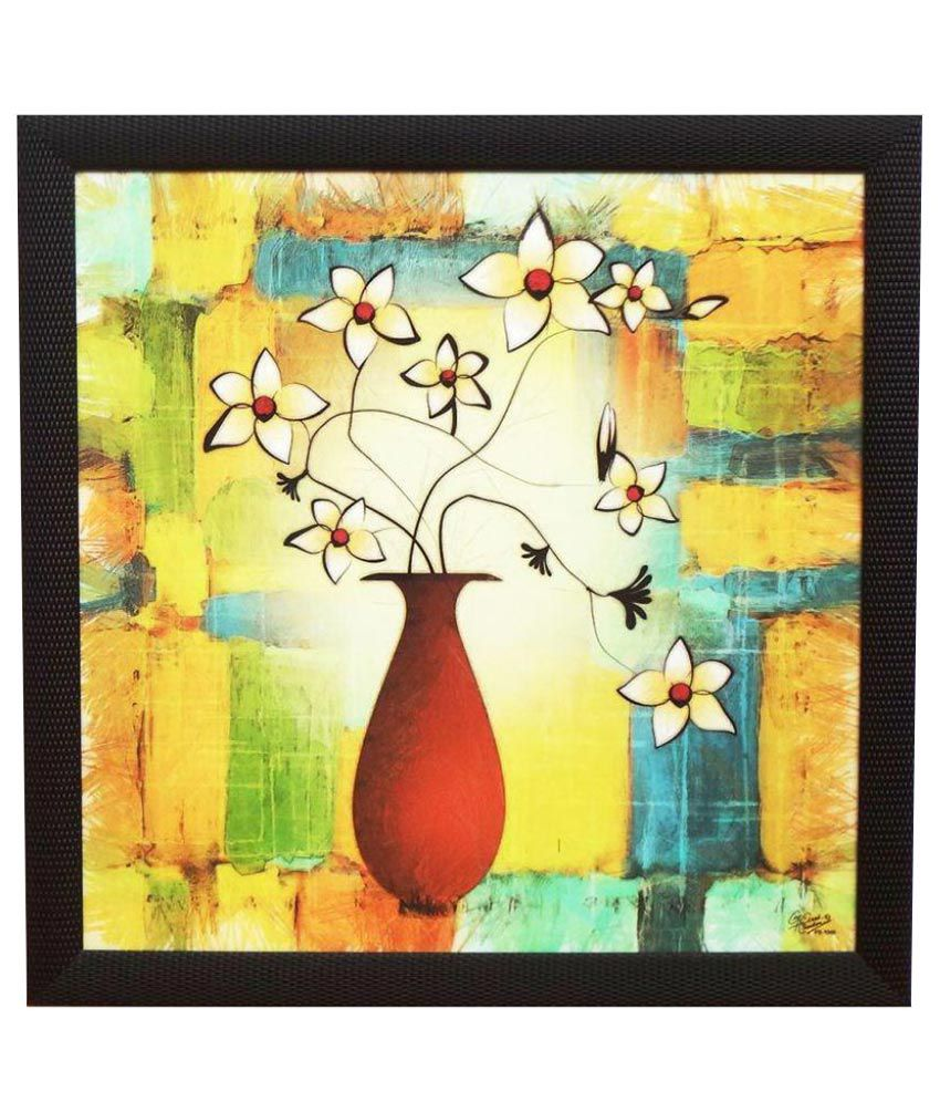Amazing Collections Acrylic Floral Paintings With Frame Single Piece