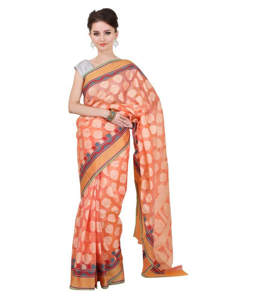 Sierra peach Banarasi Silk Saree