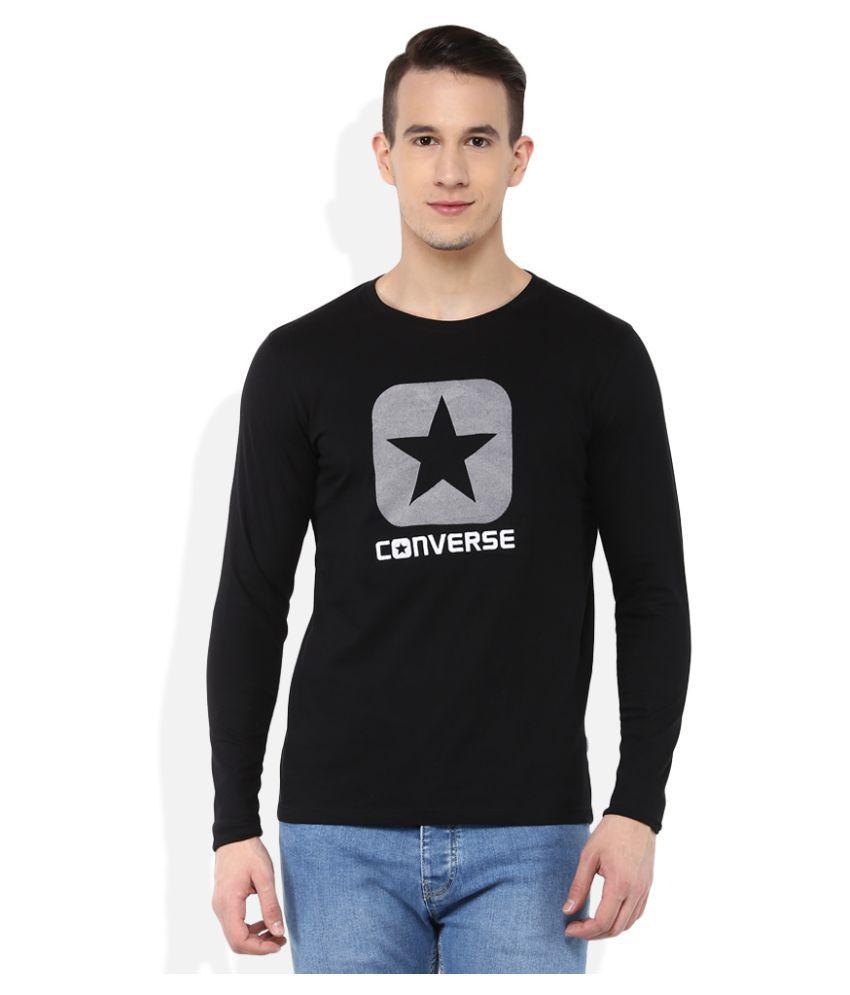 Converse Black Round T-Shirt