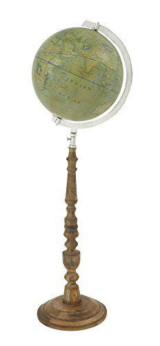 Plutus Brands Classy Wood Floor Globe