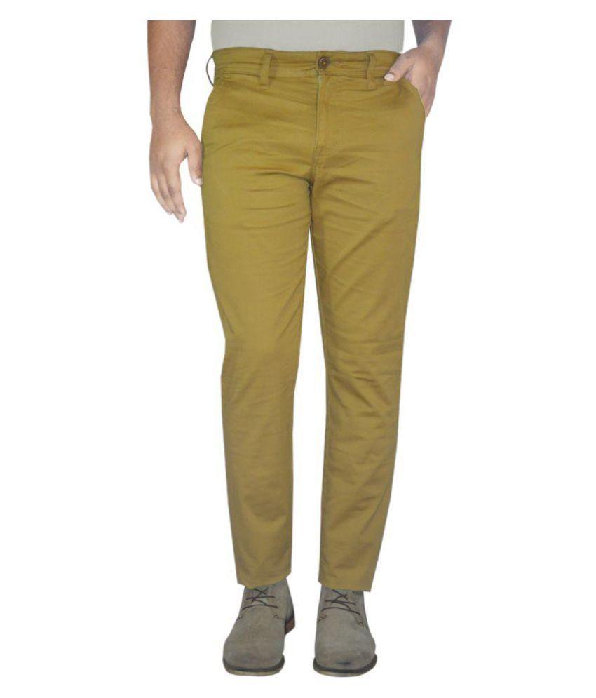 Pepe Jeans Yellow Slim Flat Trouser