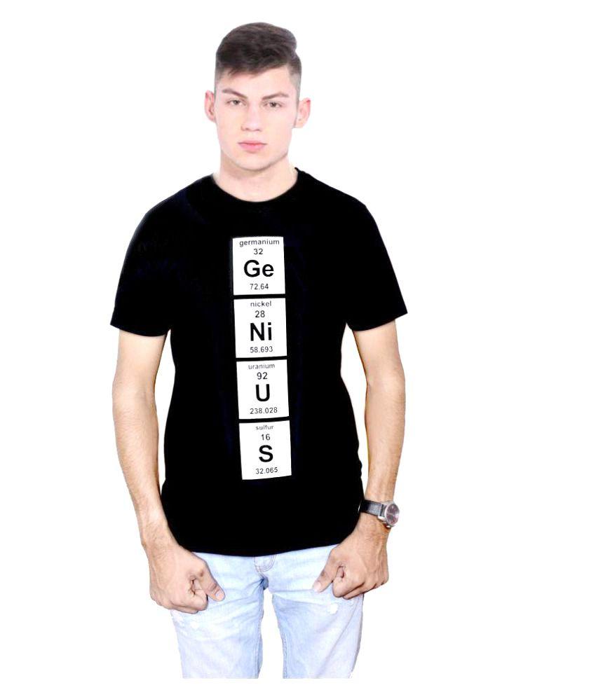 Smart India Black Round T-Shirt