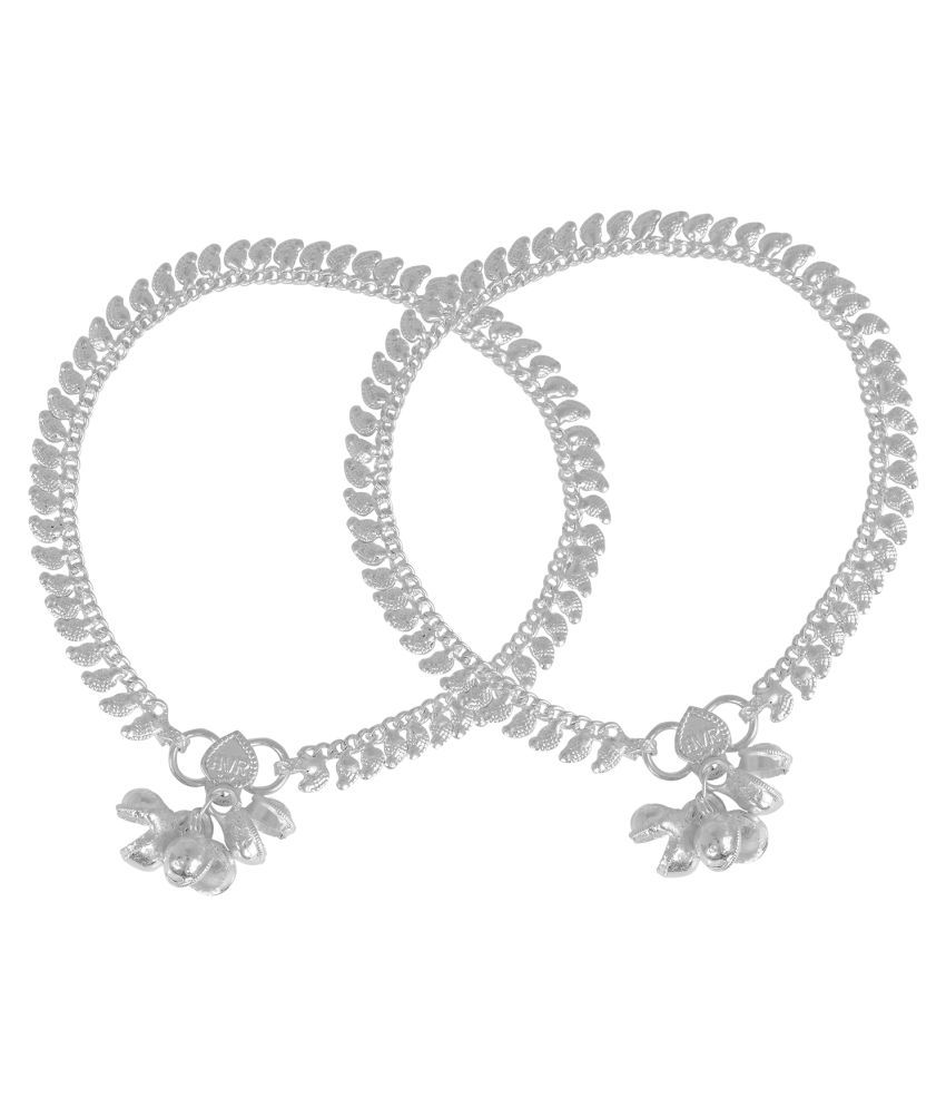 Memoir Silver Pair of Anklets