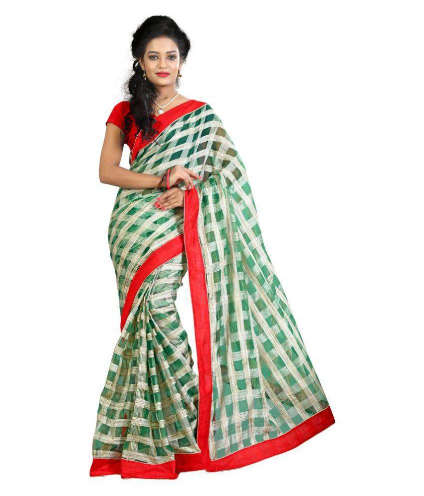 Fashionoma Multicoloured Cotton Silk Saree