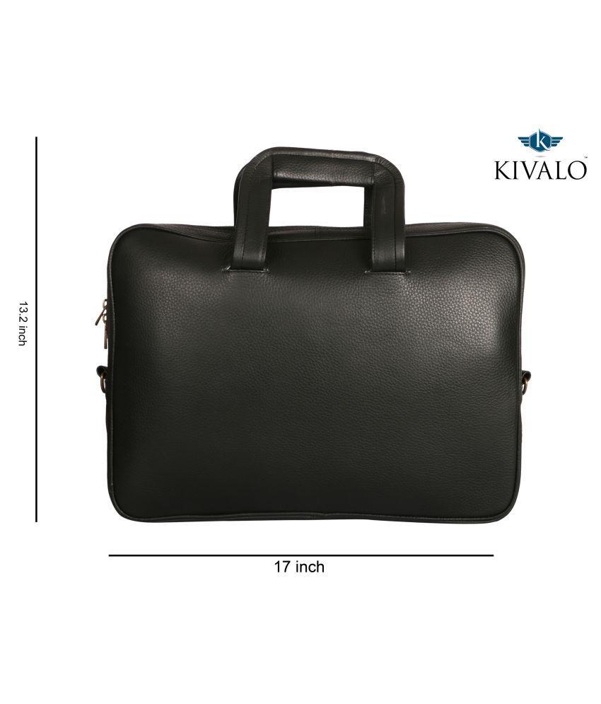Kivalo Black Leather Office Bag