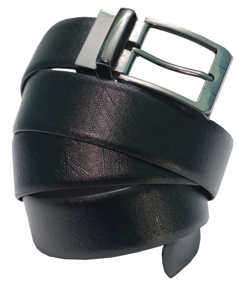 Arizic Black Leather Formal Belts