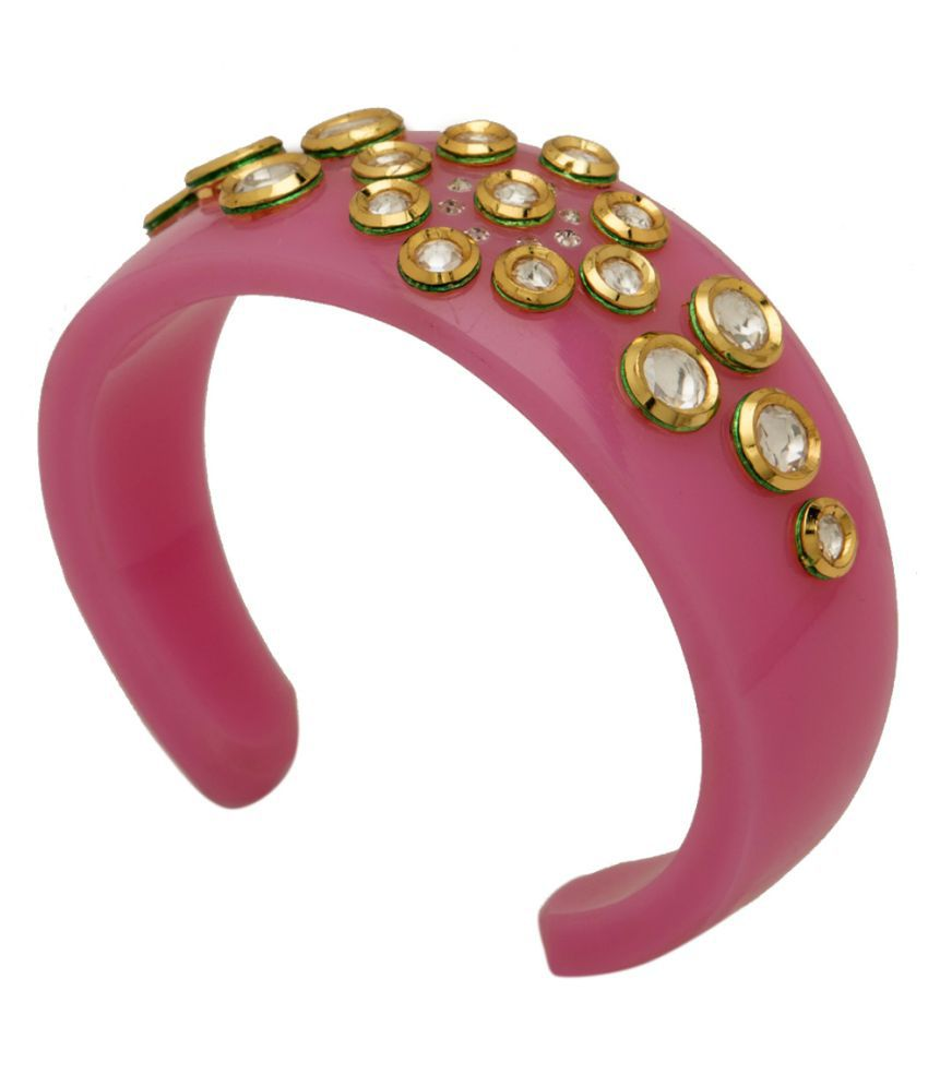 Kushals Fashion Pink Plactic Kada