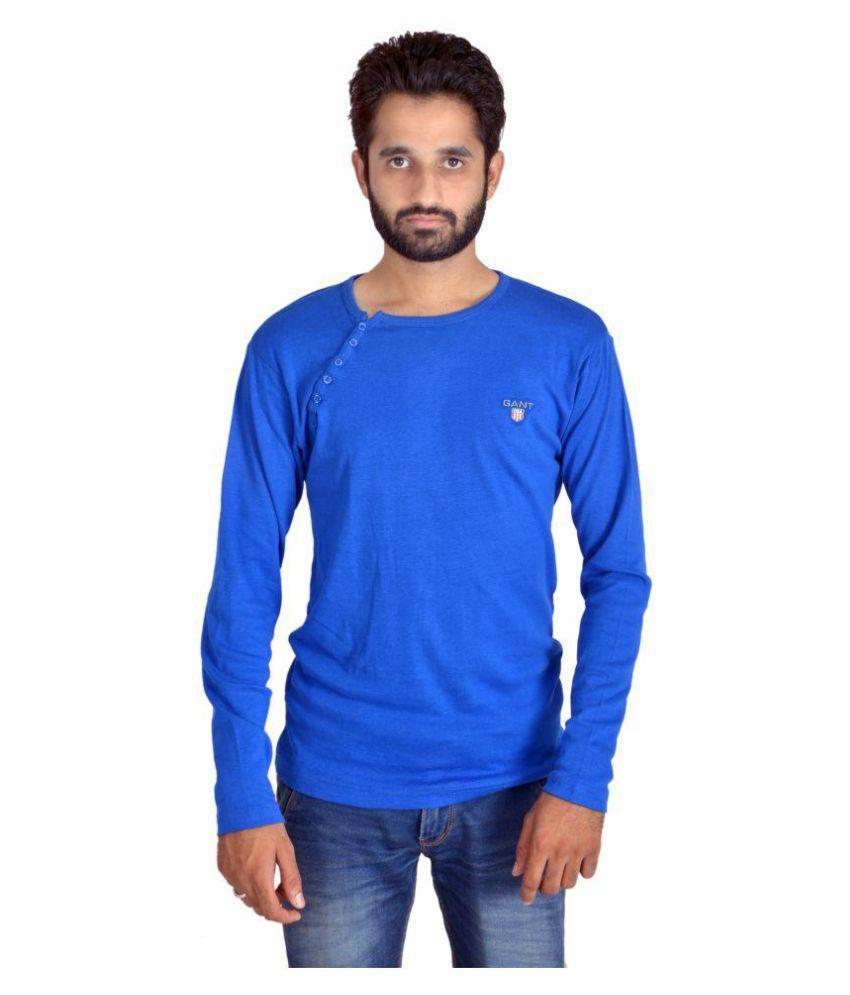 Shapeart Blue Cotton Nylon T-Shirt Single Pack