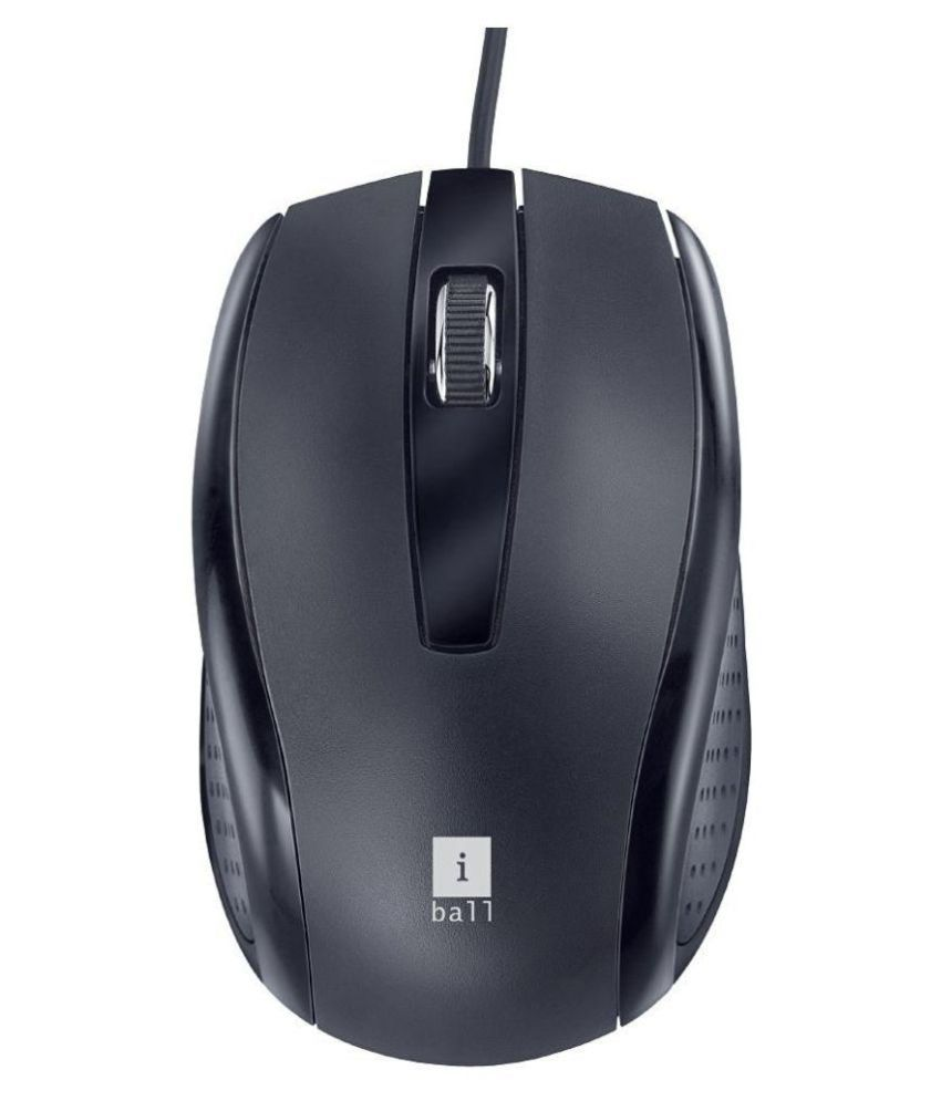 iBall Style36 Black USB Wired Mouse