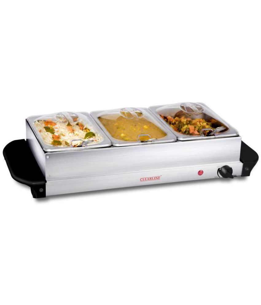 clearline 3 pan food warmer and buffet server buy online at best rh snapdeal com