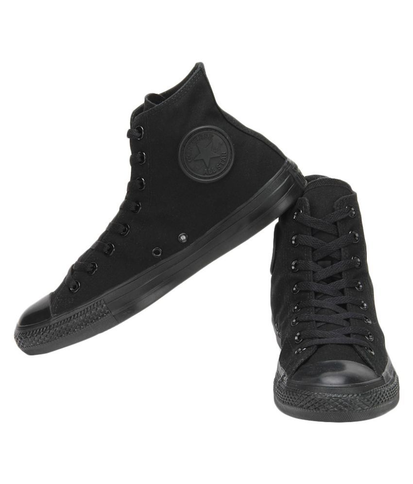 all black ankle converse