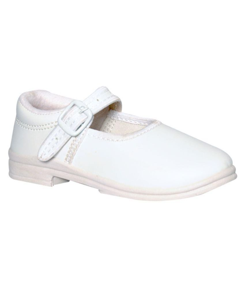 Pollo White School Shoes