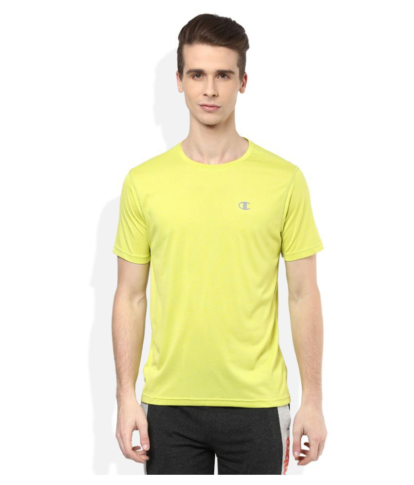 Champion Yellow Polyester T-Shirt Single Pack