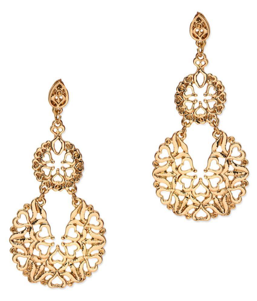 Fabula Gold Floral Filigree Drop Earrings