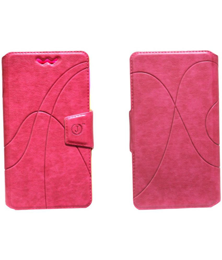 Moto E3 Flip Cover by Jojo - Pink