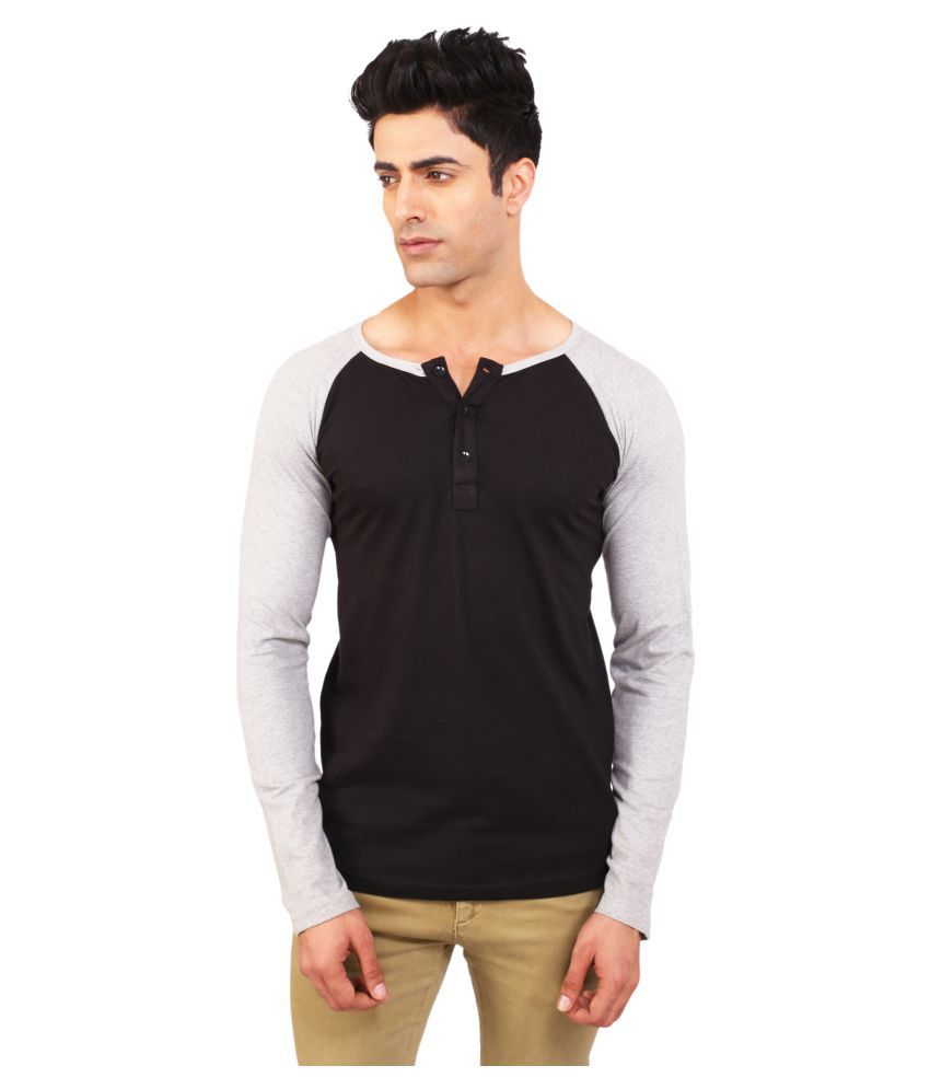BKS Collection Black Henley T-Shirt