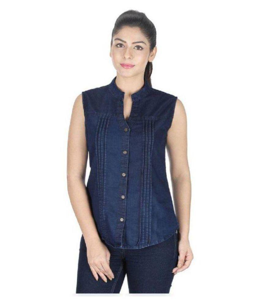 Adelina Blue Denim Shirt