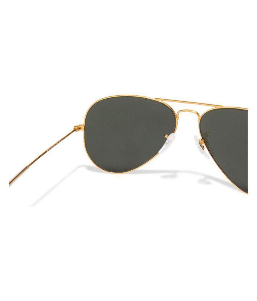 a757272019f Ray-Ban Green Aviator Sunglasses ( RB3025 L0205 58-14 ) - Buy Ray ...