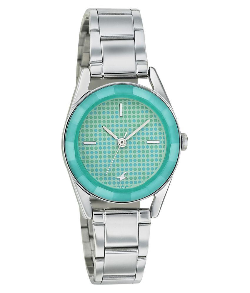 Fastrack Women Metal Analog Silver Watch - 6144SM02 Price ...
