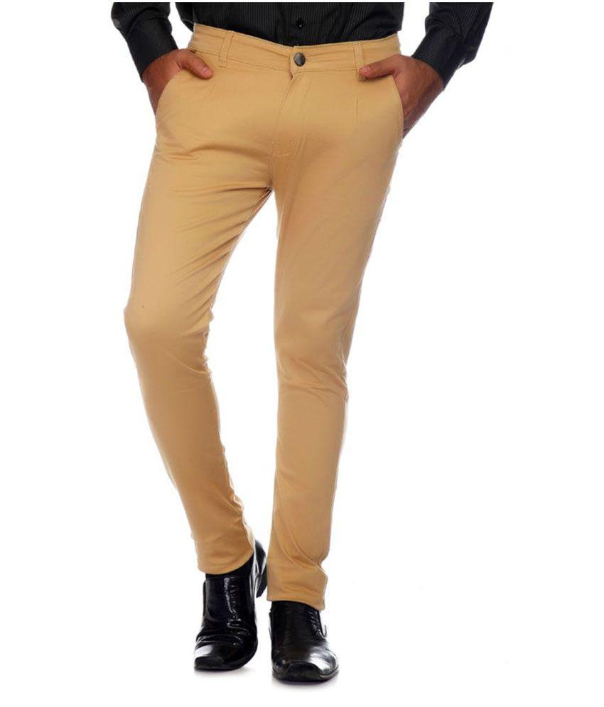 Van Galis Brown Regular Flat Trouser