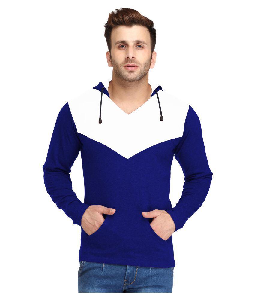 Leana Blue V-Neck T-Shirt