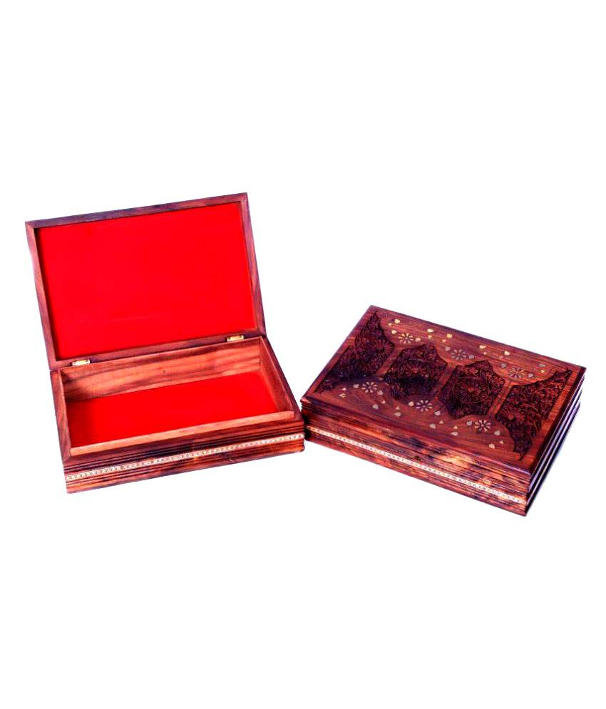 Univocean Beautiful Handcarved Wooden Jewellery Box for Jewellery Safty
