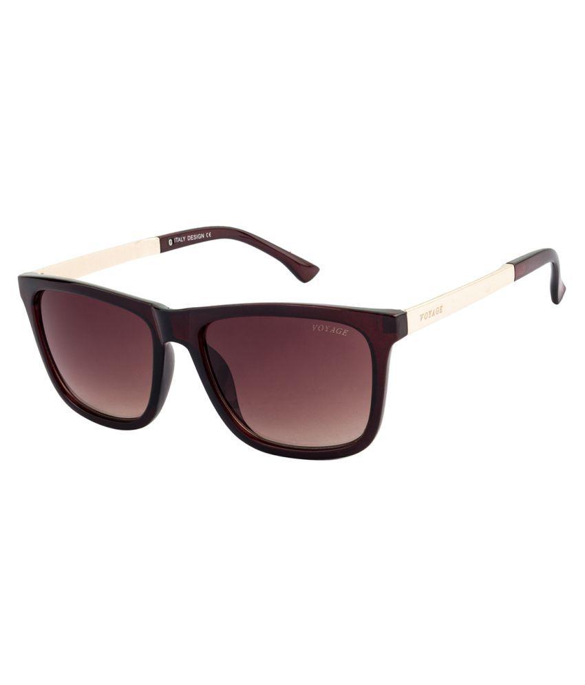 Voyage Brown Square Sunglasses ( V1140 )