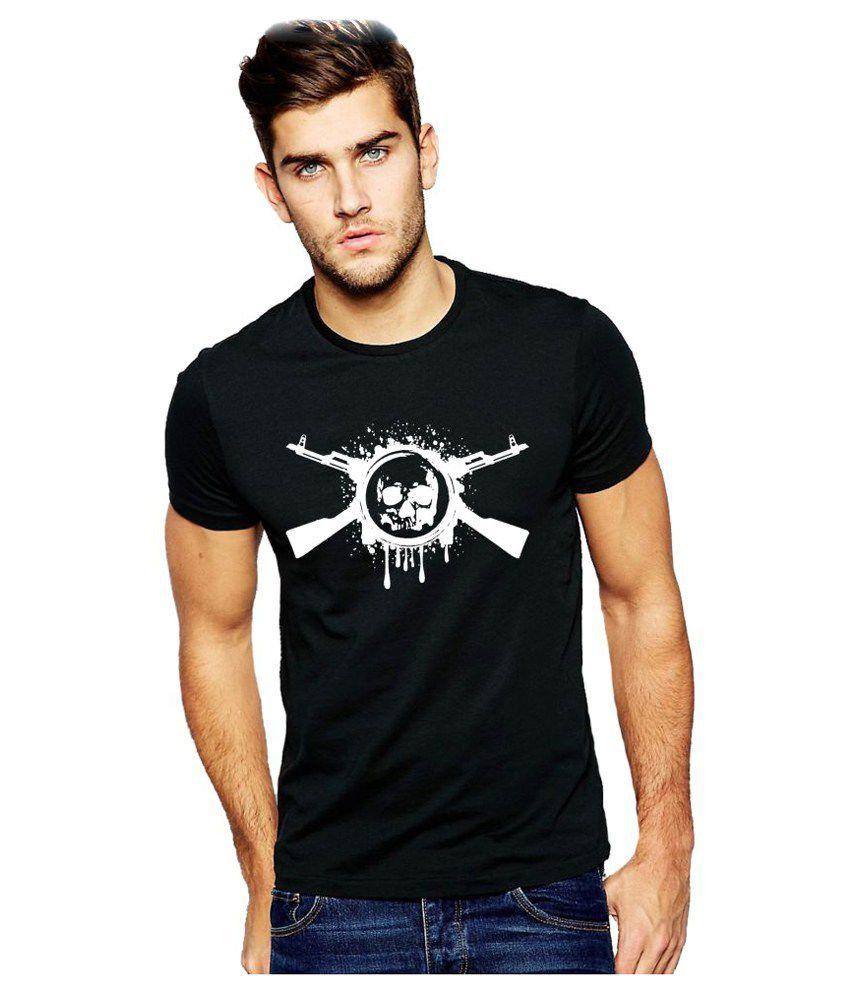Alen Carter Black Round T-Shirt
