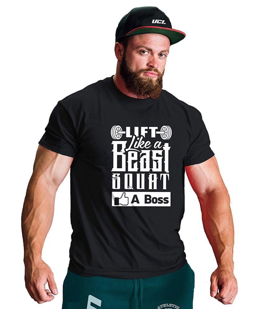 UCL Black Round T-Shirt