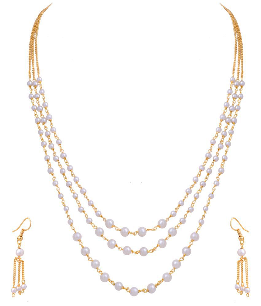 Hyderabad Jewels Beautiful Tar Mala Necklace Set