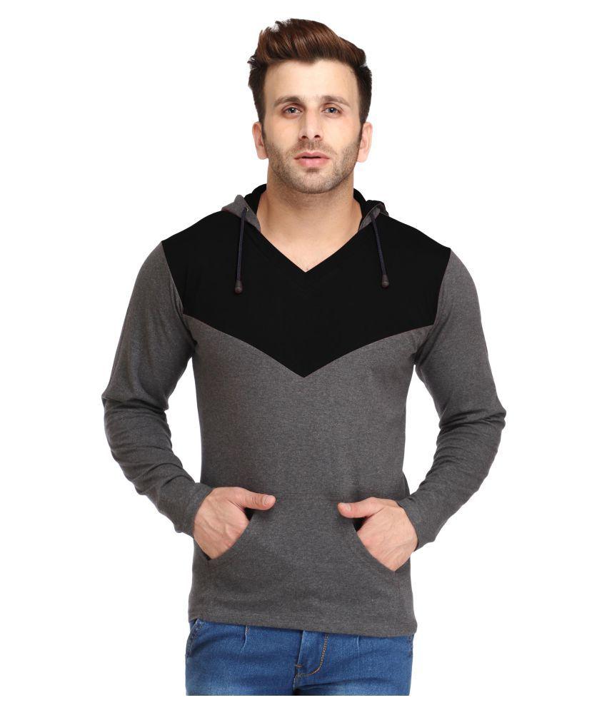 Leana Black Hooded T-Shirt
