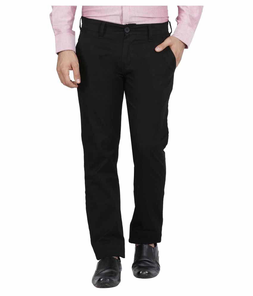 Raa Jeans Black Slim Flat Trouser