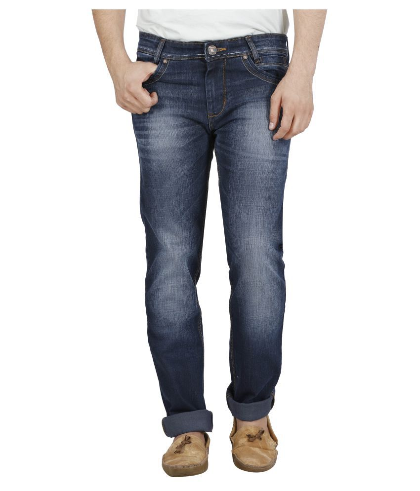 Raa Jeans Blue Slim Solid